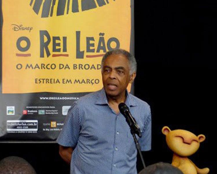 """Photo of Gilberto Gil assinará letras da versão brasileira de """"O Rei Leão"""""""