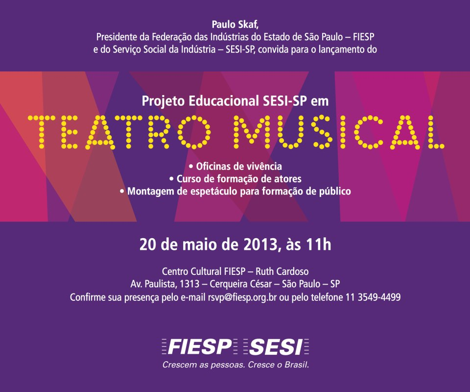 Photo of Abertas inscrições para oficinas gratuitas de teatro musical do SESI-SP