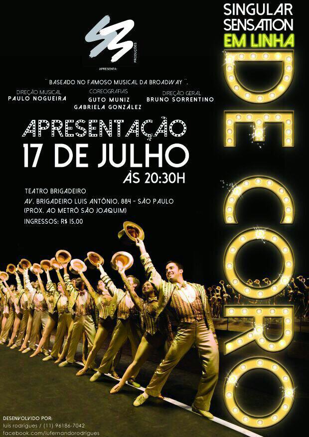"""Photo of S3 Produções conclui oficina e apresenta """"A Chorus Line"""""""