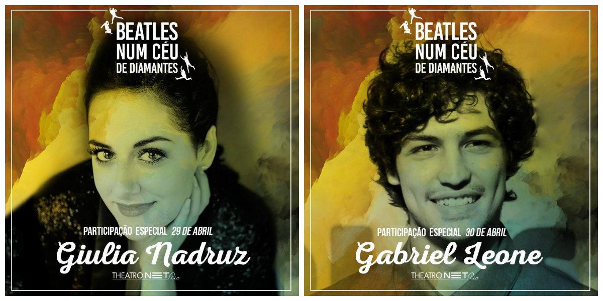 """Photo of Giulia Nadruz e Gabriel Leone fazem participação especial em """"Beatles Num Céu De Diamantes"""""""