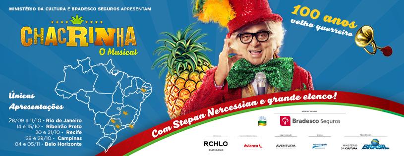 """Photo of """"Chacrinha – O Musical"""" volta ao RJ celebrando centenário do Velho Guerreiro"""