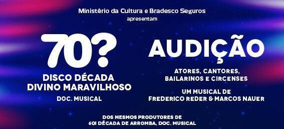 """Photo of Brain+ abre audição para """"70? Disco Década Divino Maravilhoso – Doc. Musical"""""""