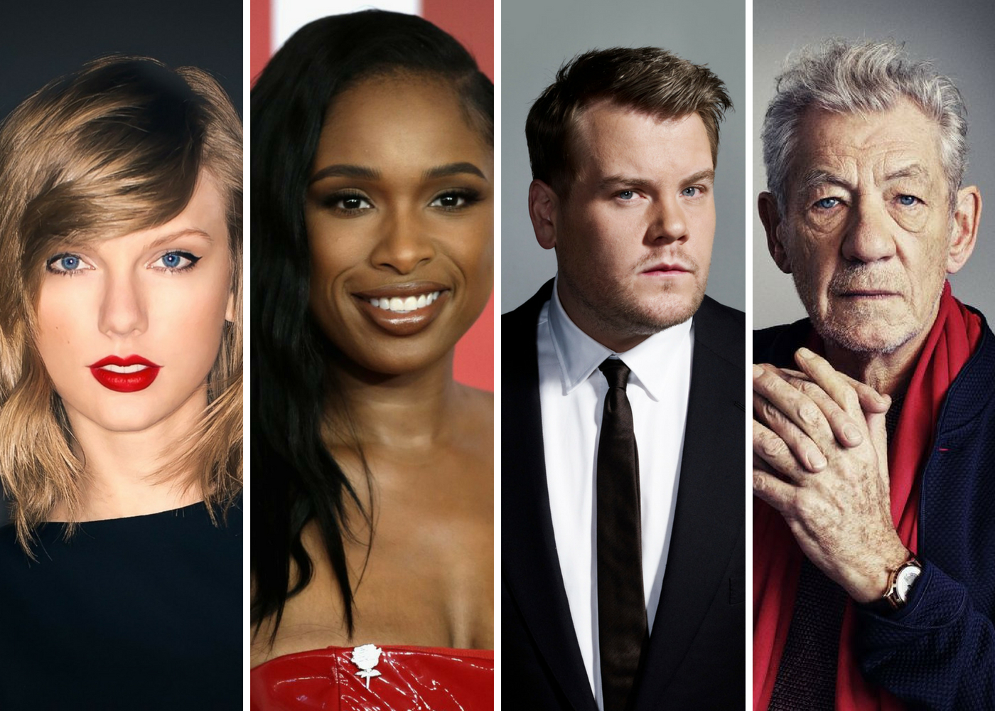 "Photo of Taylor Swift, Jennifer Hudson, James Corden e Ian McKellen em versão cinematográfica de ""Cats"""