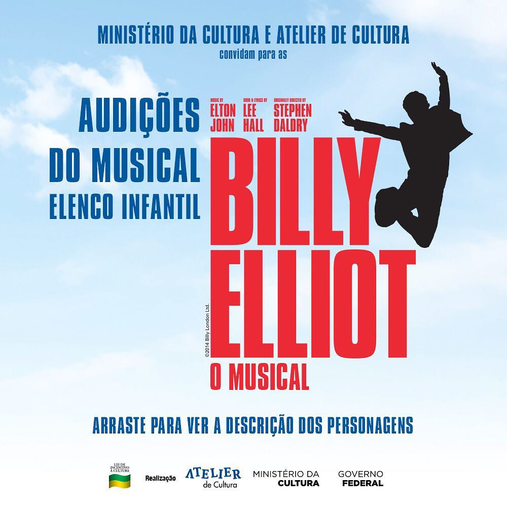 "Photo of Atelier da Cultura abre audições para elenco adulto e infantil de ""Billy Elliot""!"