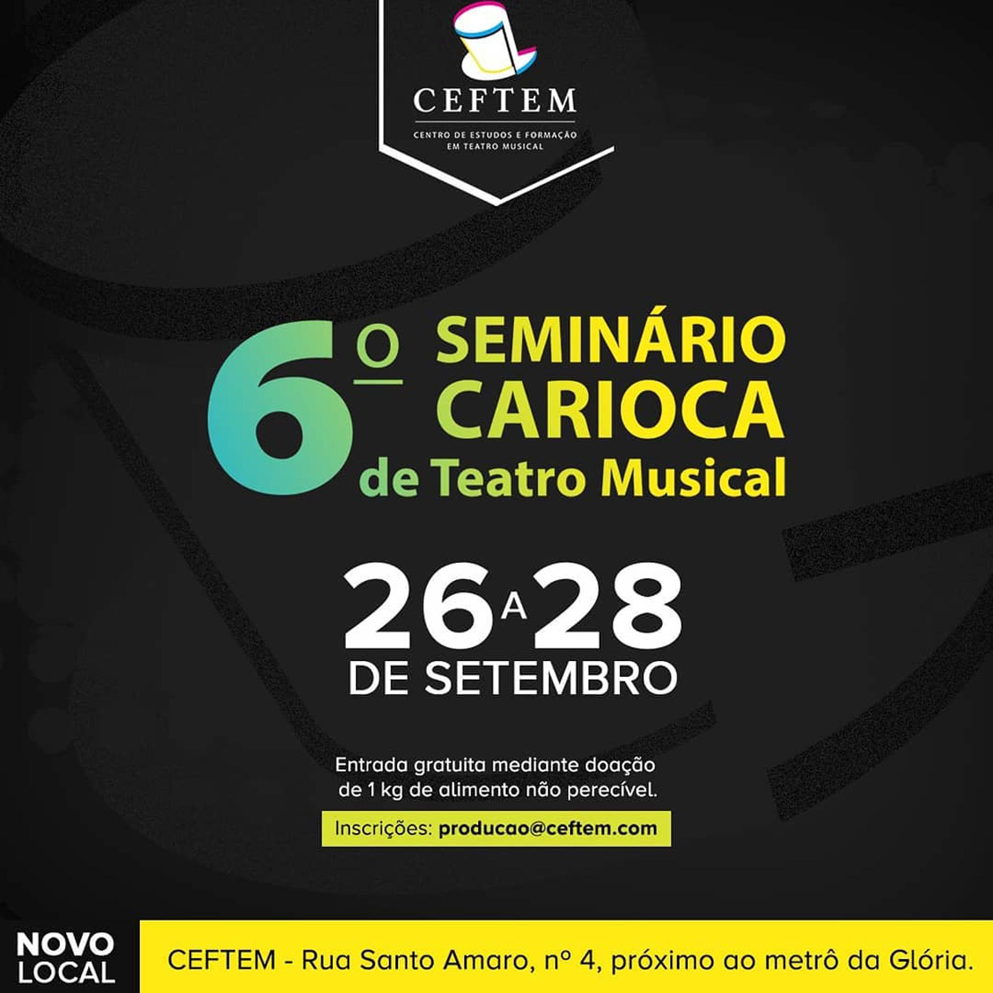 Photo of Seminário debate teatro musical no Rio de Janeiro