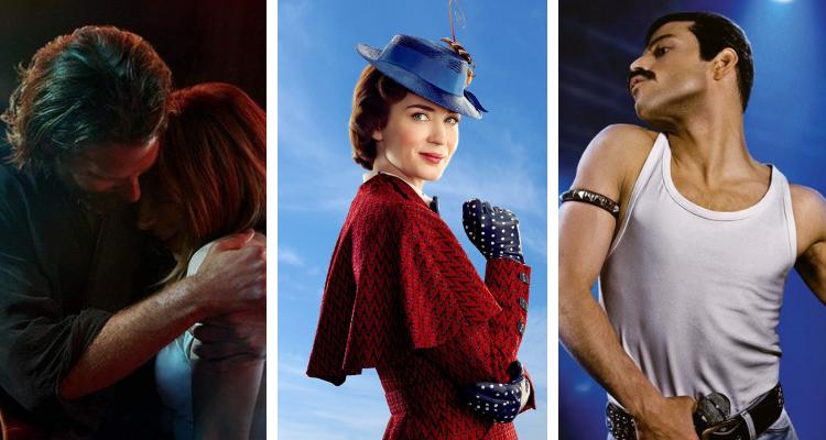 """Photo of """"Nasce Uma Estrela"""", """"Bohemian Rhapsody"""" e """"O Retorno de Mary Poppins"""" concorrem ao Globo de Ouro 2019"""