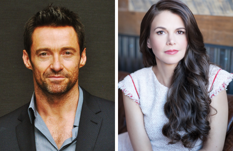 "Photo of Hugh Jackman e Sutton Foster dividem o palco em nova produção de ""The Music Man"" na Broadway"