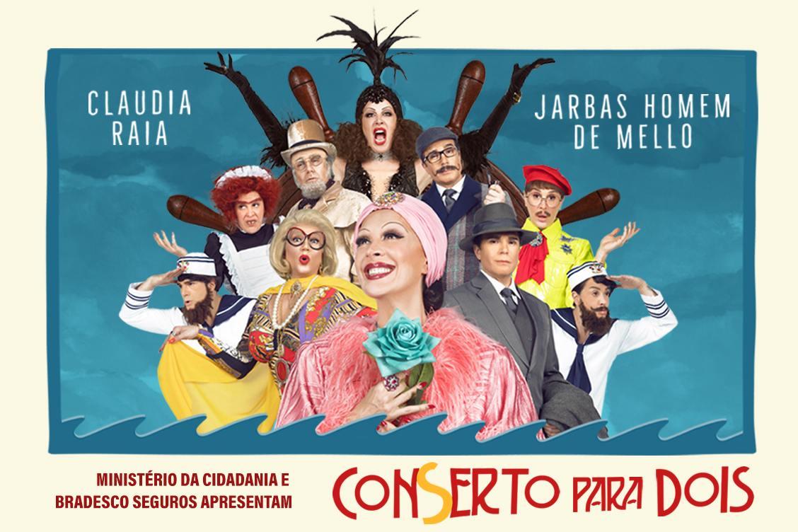 Photo of Claudia Raia e Jarbas Homem de Mello estrelam comédia musical 'Conserto para Dois'