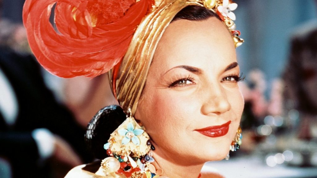 foto com rosto da atriz Carmen Miranda