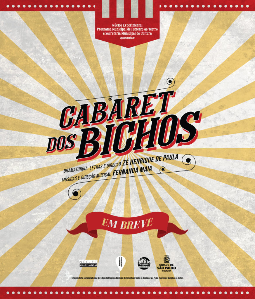 Cartaz do Núcleo Experimental para o musical Cabaret do Bichos